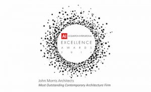 Architectural design award for an award winning architects company