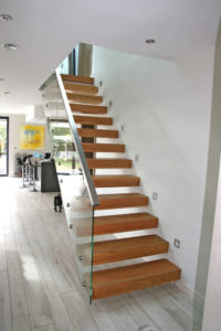 Modern staircase designed by John Morris Architects